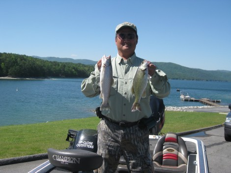 asheville to lake jocassee fishing charters report up