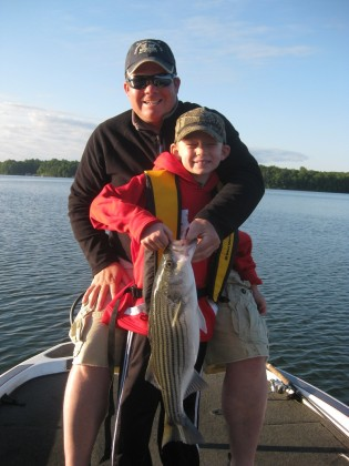 South carolina fishing charters hartwell report up for Lake hartwell striper fishing report