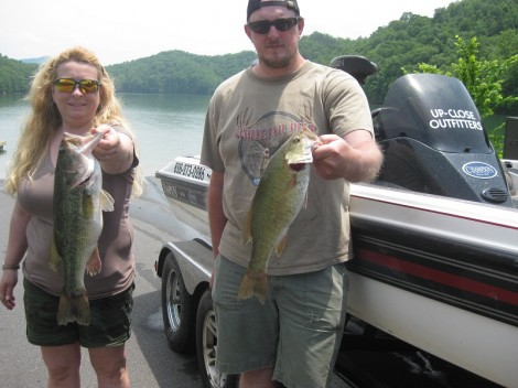 Bryson city fishing guide and charters up close outfitters for Fontana lake fishing