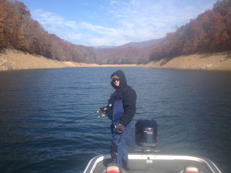 winter fishing on fontana lake